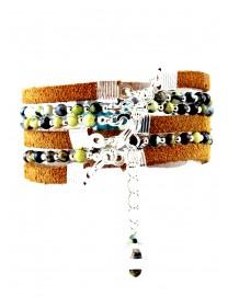Bracelet multitour Paprika Turquoise