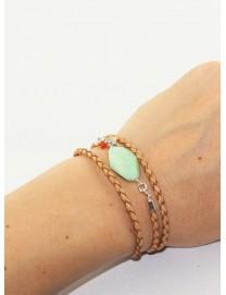 Bracelet multitour Leo chrysoprase